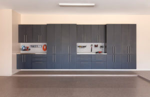 granite wall cabinet system with workbenches