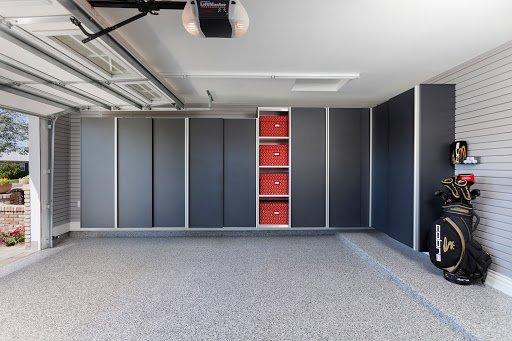 garage wall cabinet system in granite
