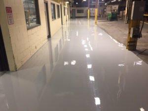 epoxy flooring on factory floor