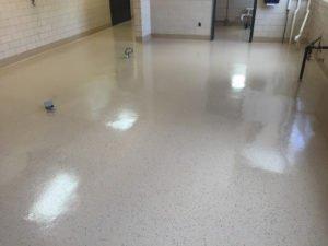 Epoxy floor coating for industrial applications