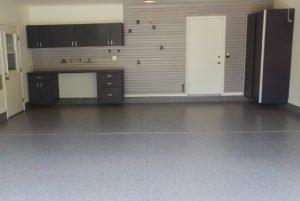 garage floor coating and organization system