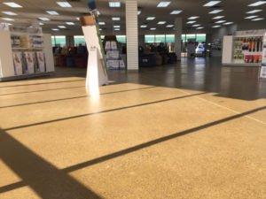 concrete showroom flooring
