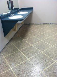 tile pattern epoxy flake bathroom floor