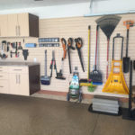 garage cabinet and slatwall organizer